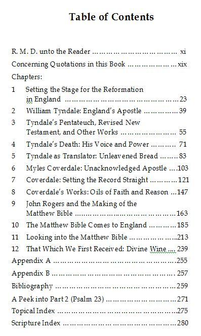 The Story of The Matthew Bible - Baruch House Publishing